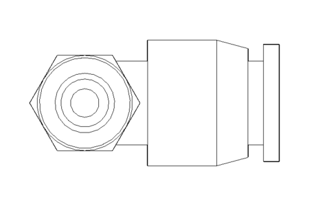 Elbow screw-in connector